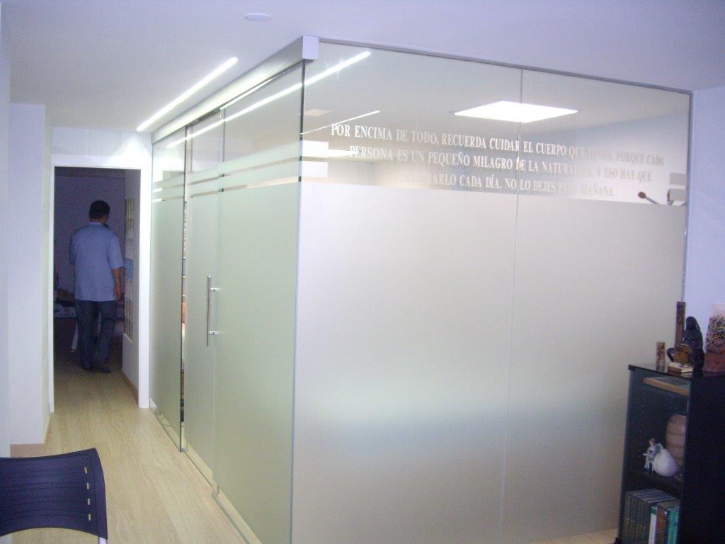 Separadores y cerramientos de cristal