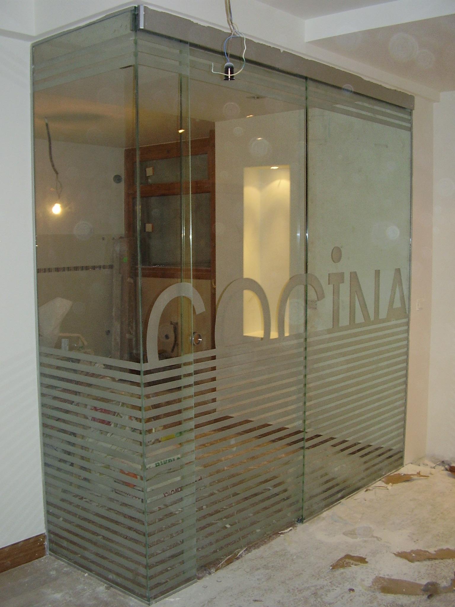 Tipos de puertas de vidrio