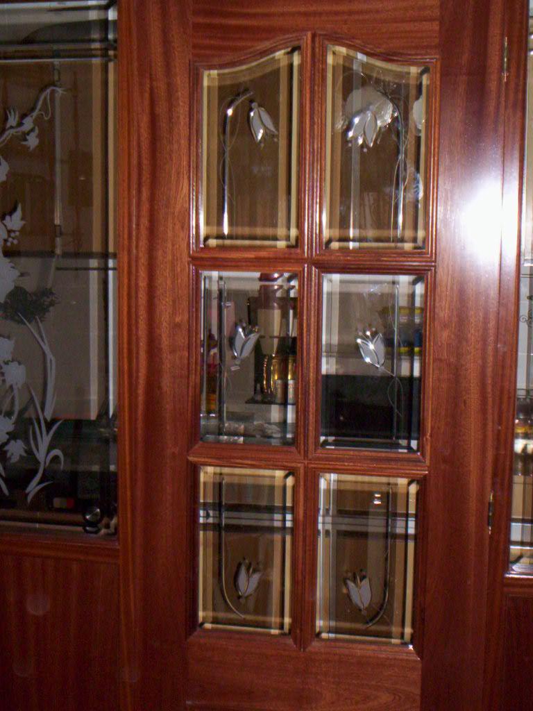 Puertas palilleras con cristal