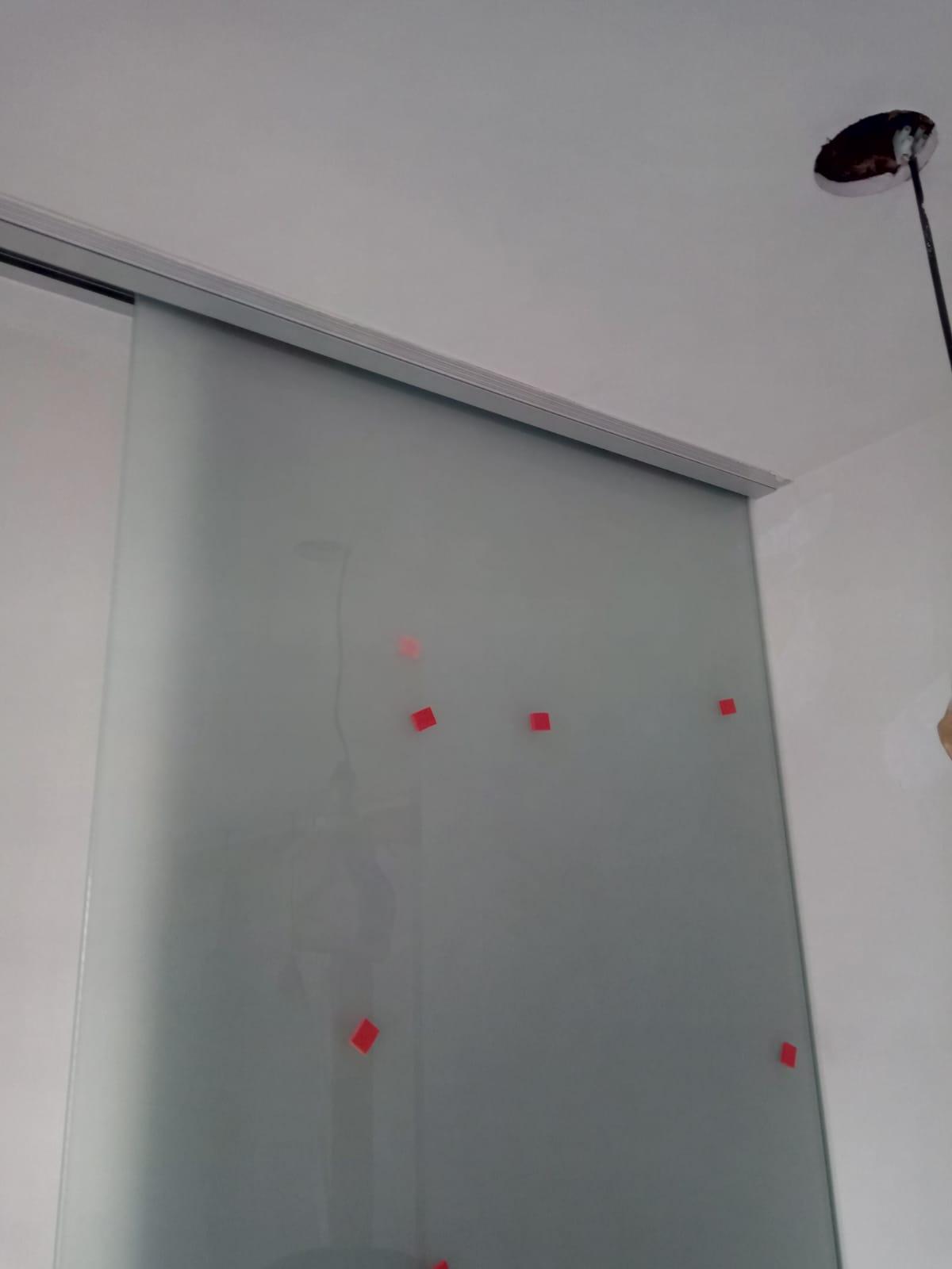 Puertas aéreas de cristal mate